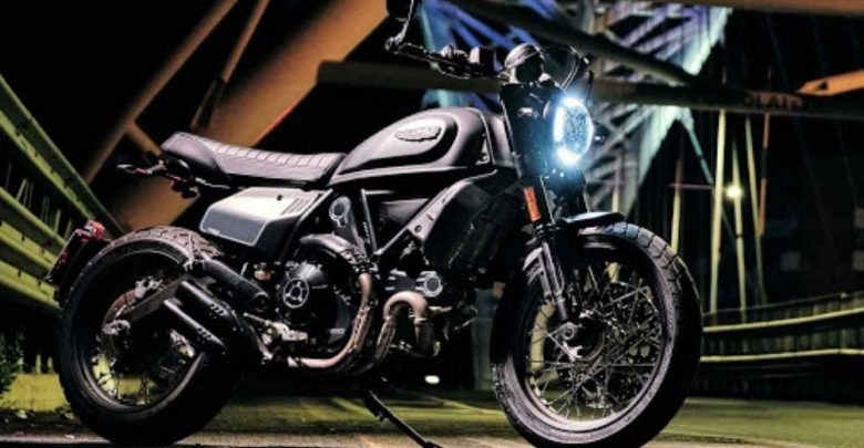 A Ducati Scrambler on its way to be launched